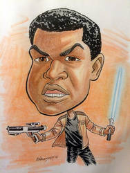 Finn caricature by Walmsley