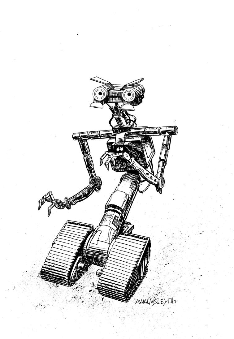 johnny 5 by walmsley on deviantart