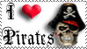 """I Heart Pirates"" stamp by The-Fairywitch"