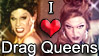 'I Love Drag-Queens' stamp by The-Fairywitch
