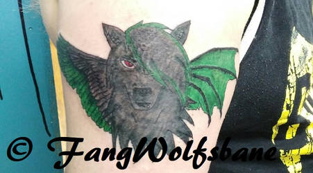 Hybrid Wolf Tattoo by FangWolfsbane