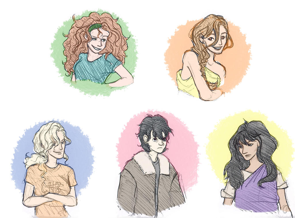 Percy Jackson Characters Drawings