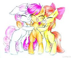 Comm: Cutie Hug by LiaAqila
