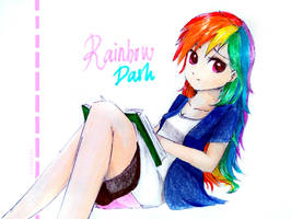 Humanified Rainbow Dash by LiaAqila