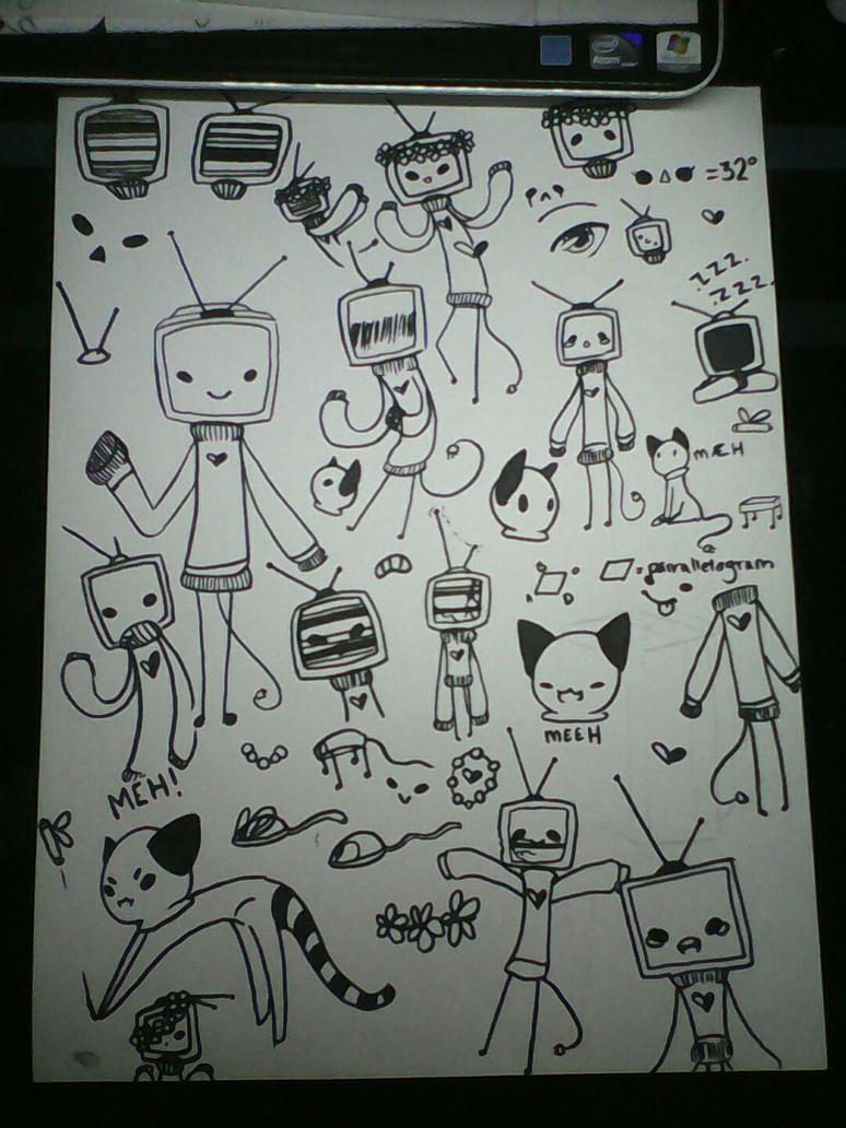 Tv Suki school doodles by Redo3o