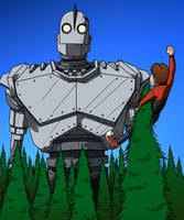 The Iron Giant by tomastocornal