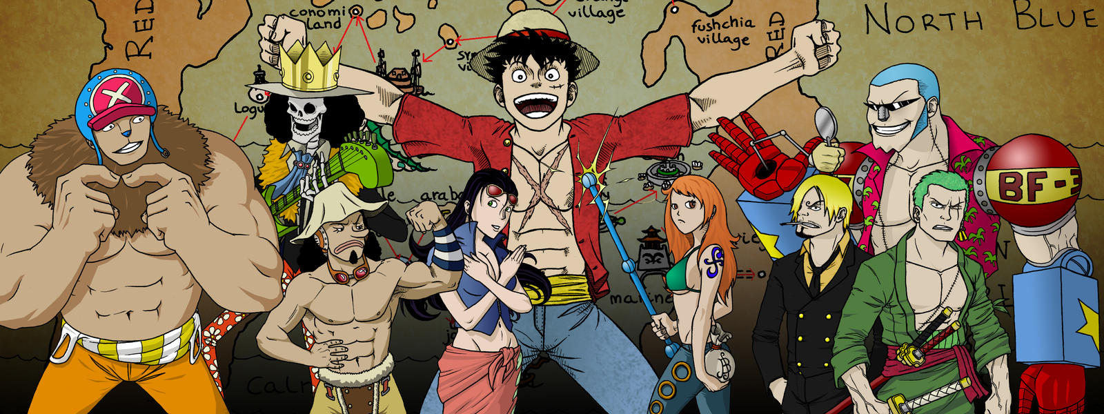 One Piece - Shin Sekai by tomastocornal