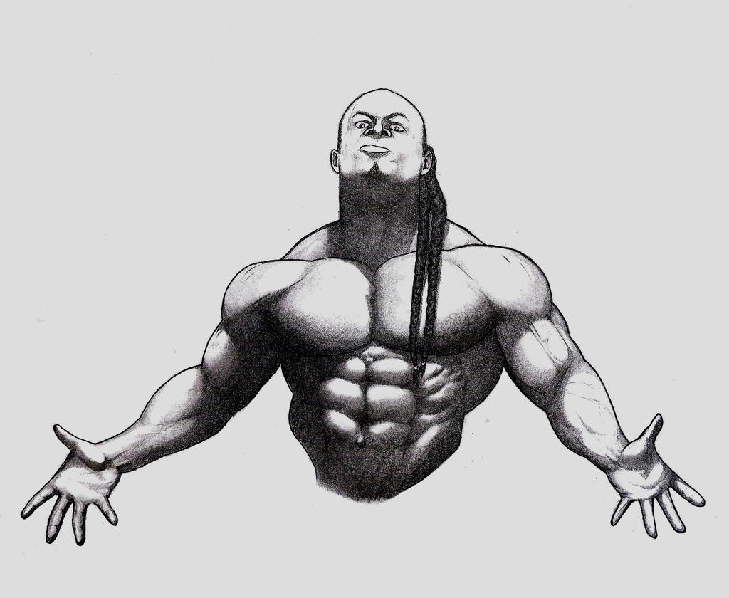 Kai greene by tomastocornal on deviantart for Kai greene painting