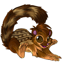 13 lined ground squirrel maki by Kayleigh-Kaz