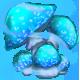 Blue glow shroom2 by Kayleigh-Kaz