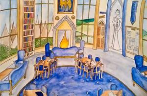 Ravenclaw Common Room by alwayskat27