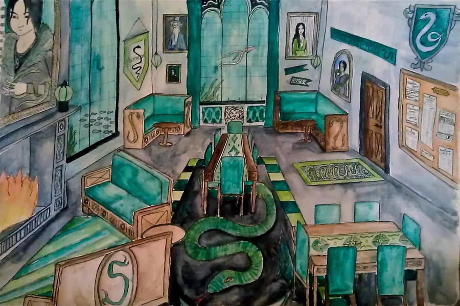 Slytherin Common Room By Alwayskat27 On DeviantArt