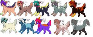 Doggo Adopts (10 points to 40 points) by KillerAdoptables