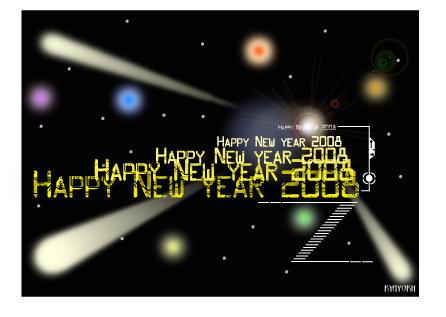 New Year Postcard