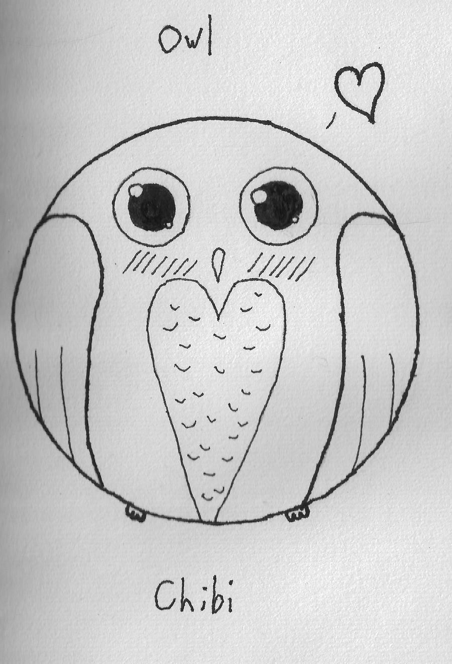 owl chibi by wolfgirl012 on deviantart