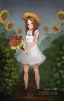 Sunflower Girl by EveVon