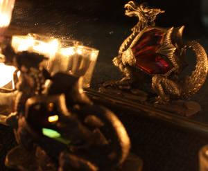 Dragon in mirror