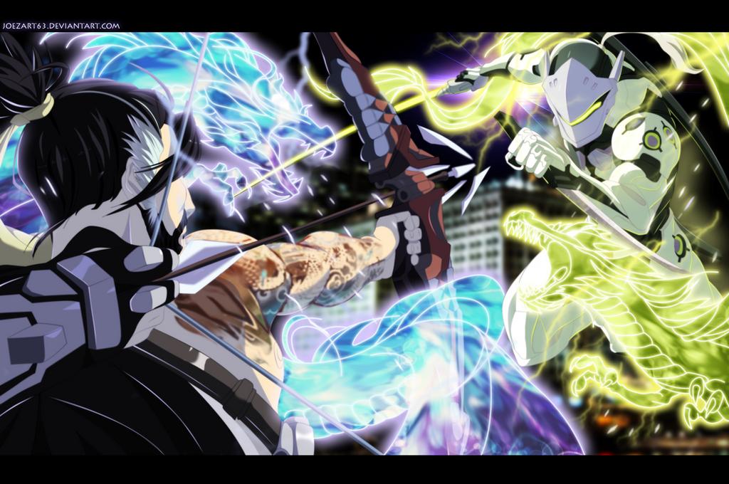 Dragons - Hanzo vs Genji! by JoeZart63