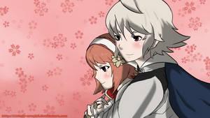Kamui/Corrin X Sakura Request Color by Bloody-Uragiri