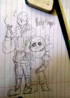 UNDERSWAP Papyrus and Sans doodle by Bloody-Uragiri