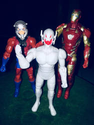 Ultron and his fathers by Alucard4