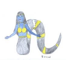 Snake Goddess by MichaFire