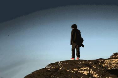 Standing on a hill by teddykladdkaka