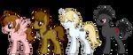 Tsubasa Ponies by Cammie-Mile