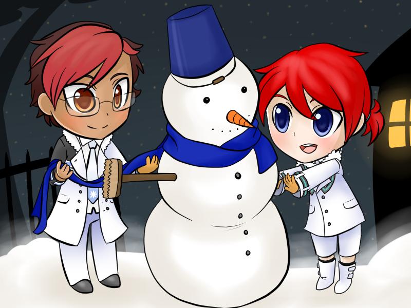 Snowmen by Caramelcat123