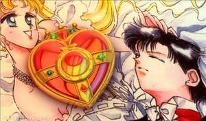 Sailor Moon Heart Compact Brooch - Herz Brosche 3D