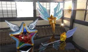 Sailor Starlights Yell, Headset, Brooch? 3D #2