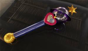 Saturn Lip Rod, Saturn Wand 3D #1