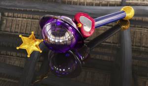 Saturn Lip Rod, Saturn Wand 3D #2