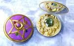 Sailor Moon Crystal Star open - Brosche offen 3D 2