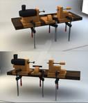 DIY Wood lathe Drechselbank 3D