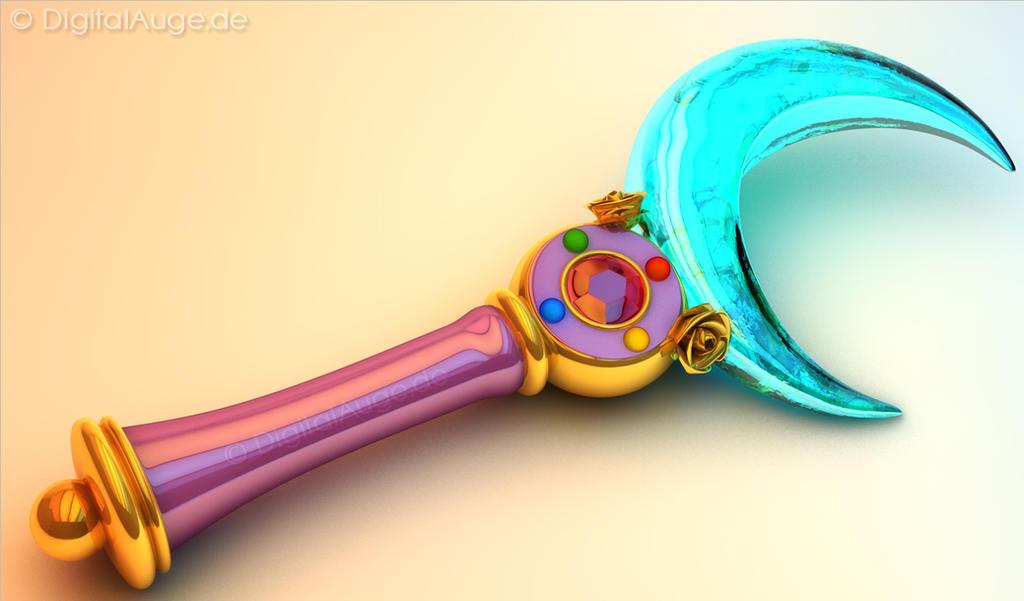 Sailor Moon Crystal Moon Stick - Mond Zepter 3D #1 by digitalAuge