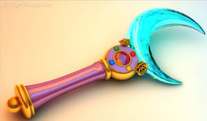 Sailor Moon Crystal Moon Stick - Mond Zepter 3D #1