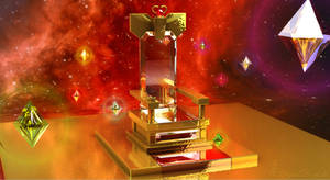 Sailor Moon - Galaxia's Throne and Heart Crystals