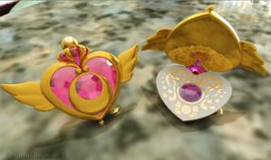 Sailor Moon - Crisis Moon Compact open 3D