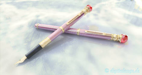 Sailor Moon Crystal / Manga Luna (Fountain) Pen 3D by digitalAuge
