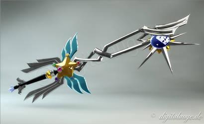 Sailor Star Fighter Keyblade Master 3D by digitalAuge