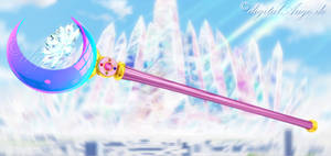 Sailor Moon Crystal - Moon scepter 3D by digitalAuge