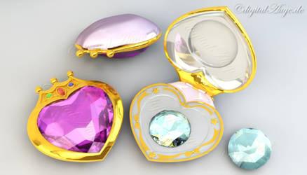 SailorMoonCrystal ChibiMoon Prism Heart Compact 3D