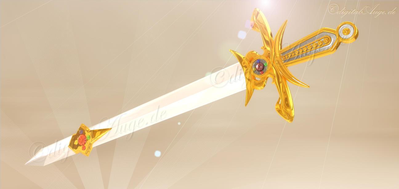 Sword of silver crystal - Manga 3D by digitalAuge