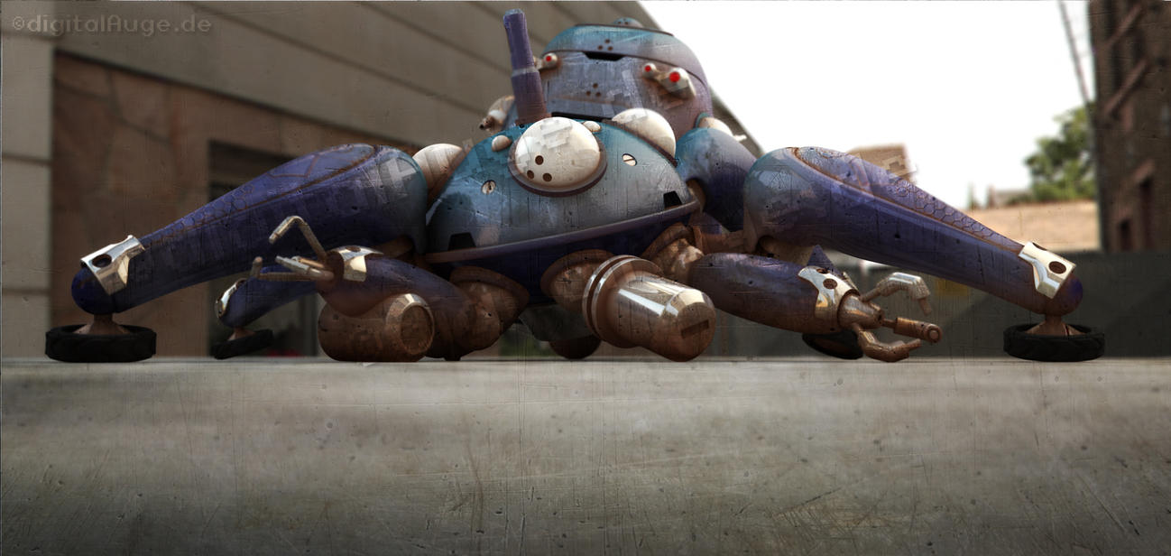Ghost in the shell - Tachikoma 3D 4 by digitalAuge