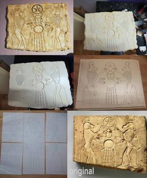 Limestone relief panel replica