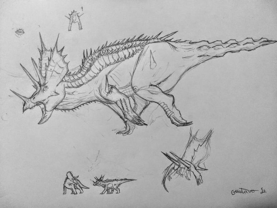 tisso triceratops by Gustavolamaral