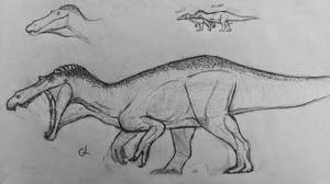 Elder-suchomimus by Gustavolamaral