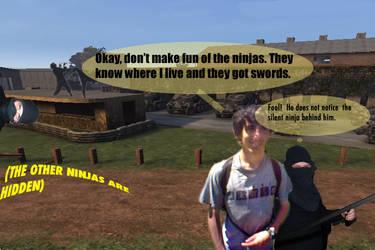 EdFanMH versus the ninja army
