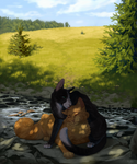 Summer rest - Painting Commission